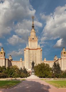 De Staatsuniversiteit in Moskou, waar Anton Naumkin Nederlands leerde.