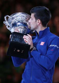 Novak Djokovic, winnaar grandslamtoernooi, zonder koppelteken