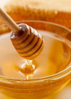 De honing. Smeer het op je brood?