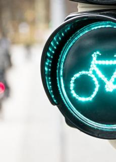 Doorfietsen bij slimme verkeerslichten