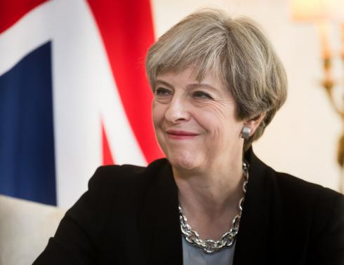 Theresa May is partijleider van de Britse conservatieve partij.