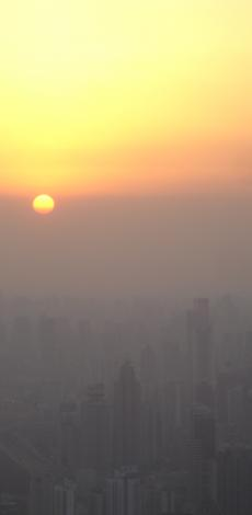 Fijn stof boven Shangai
