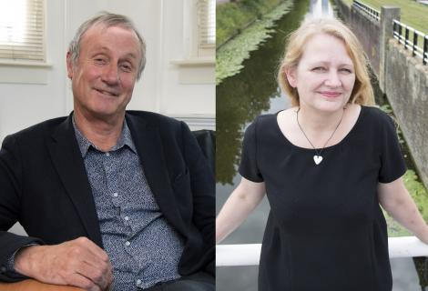 Hans Bennis (Taalunie) en Vibeke Roeper (Onze Taal): organisaties kunnen elkaar perfect aanvullen