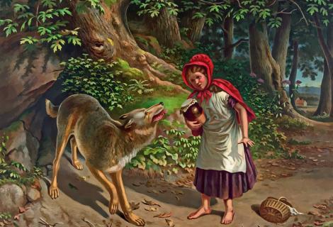 Opmerkelijk dat Roodkapje de ontmoeting met de grote boze wolf overleeft, vindt Folgert Karsdorp.